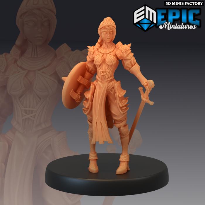 Queens Knight des Last Rebellion créé par Epic Miniatures de 3D Minis Factory