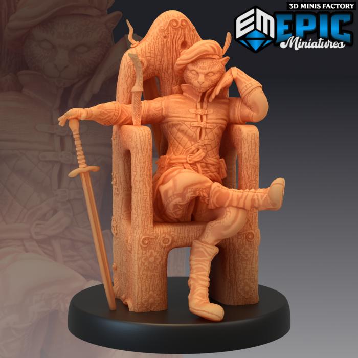 Tabaxi Black Cat Rogue Throne des Last Rebellion créé par Epic Miniatures de 3D Minis Factory