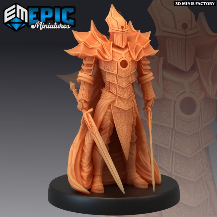 Dark Knight des Last Rebellion créé par Epic Miniatures de 3D Minis Factory