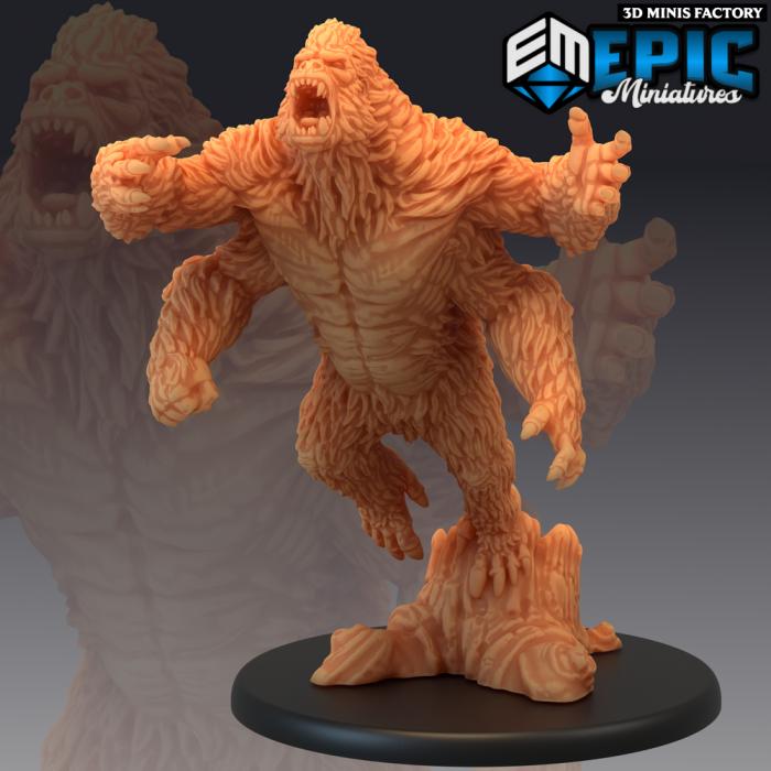 Girallon Attacking des Fey Woods créé par Epic Miniatures de 3D Minis Factory