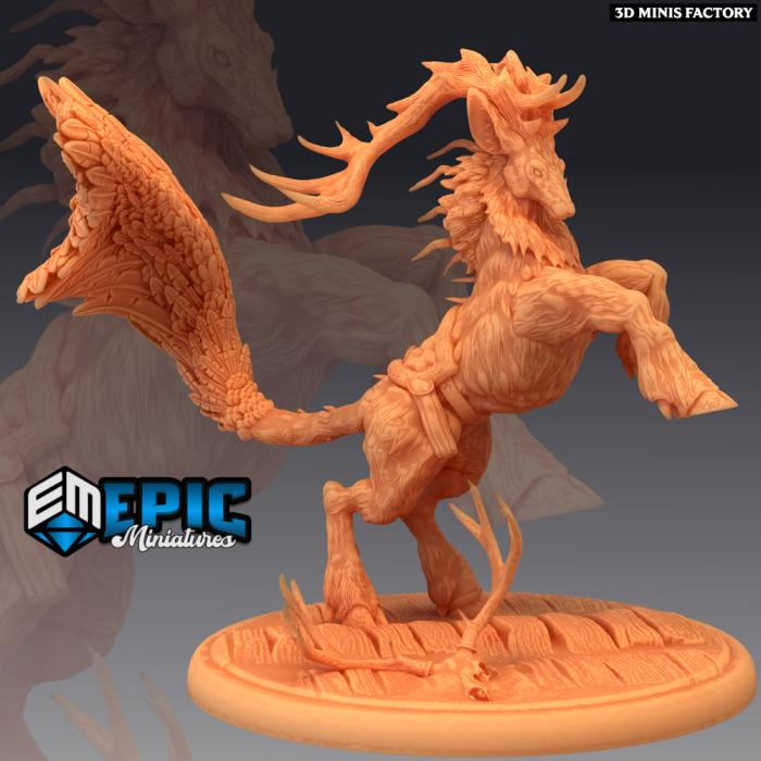 Deer King Mount des Fey Woods créé par Epic Miniatures de 3D Minis Factory