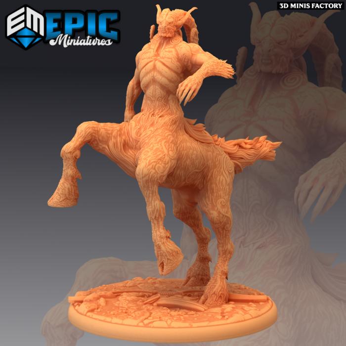 Centauroid Satyr Attacking des Fey Woods créé par Epic Miniatures de 3D Minis Factory