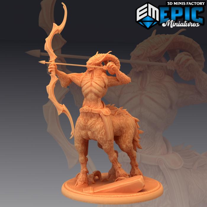 Centauroid Satyr Archer des Fey Woods créé par Epic Miniatures de 3D Minis Factory