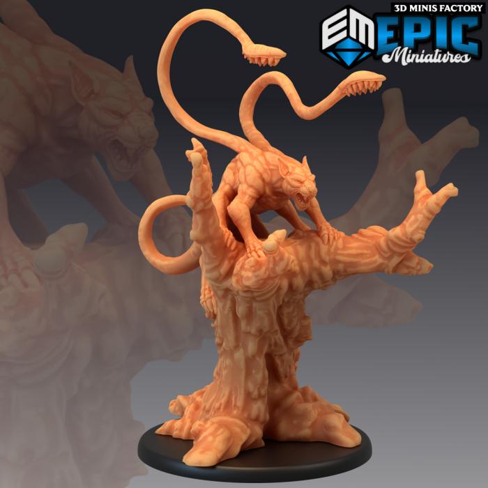 Phase Panther Climbing des Fey Woods créé par Epic Miniatures de 3D Minis Factory