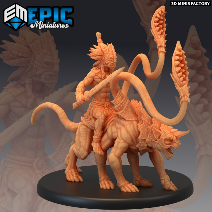 Forest Gnome Panther Rider des Fey Woods créé par Epic Miniatures de 3D Minis Factory