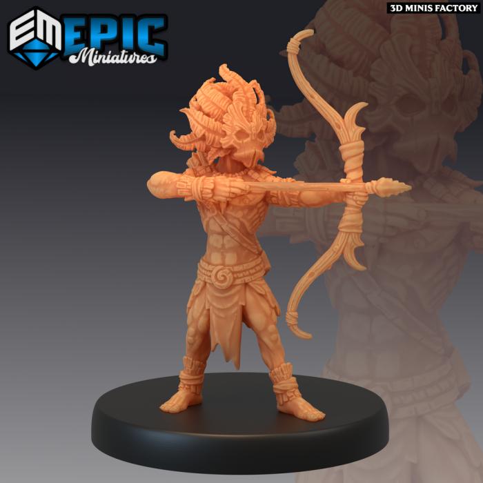 Forest Gnome Archer des Fey Woods créé par Epic Miniatures de 3D Minis Factory