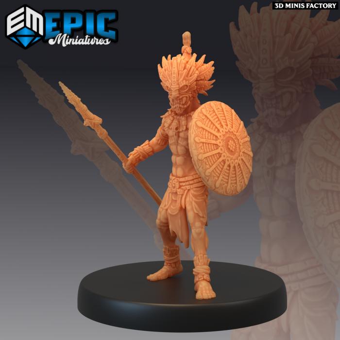 Forest Gnome Warrior des Fey Woods créé par Epic Miniatures de 3D Minis Factory