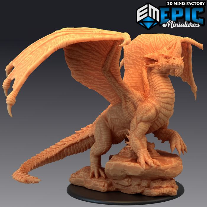 Blue Dragon Ancient des Mythical Desert créé par Epic Miniatures de 3D Minis Factory