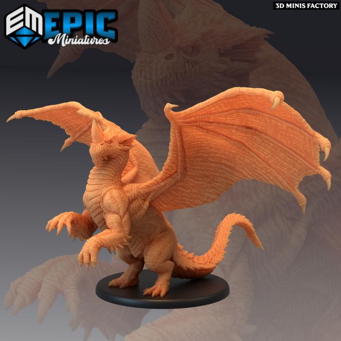 Blue Dragon Young des Mythical Desert créé par Epic Miniatures de 3D Minis Factory