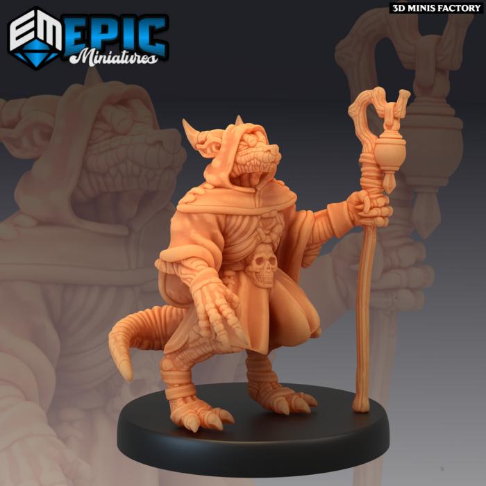 Kobold Shaman des Mythical Desert créé par Epic Miniatures de 3D Minis Factory