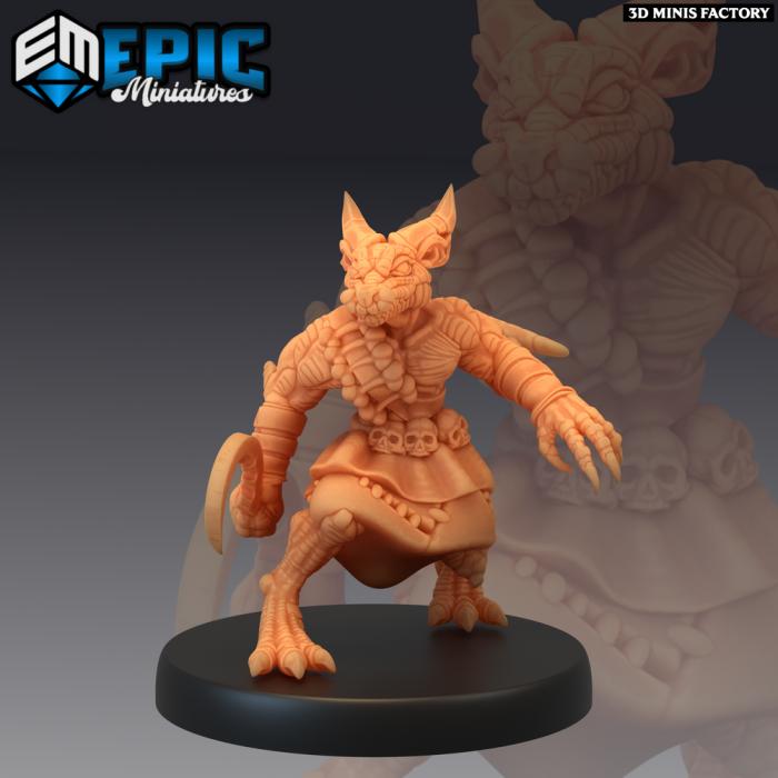 Kobold Warrior Sickle des Mythical Desert créé par Epic Miniatures de 3D Minis Factory