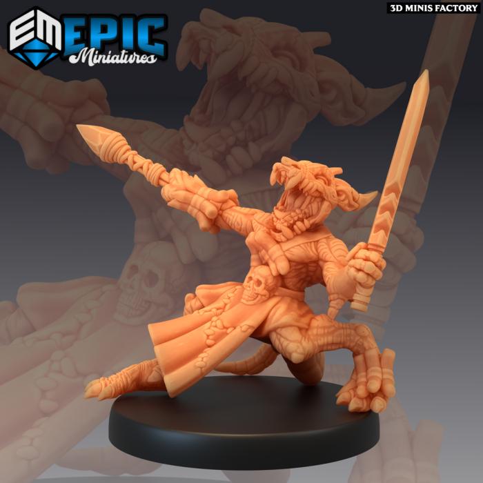 Kobold Warrior Skull Mask des Mythical Desert créé par Epic Miniatures de 3D Minis Factory