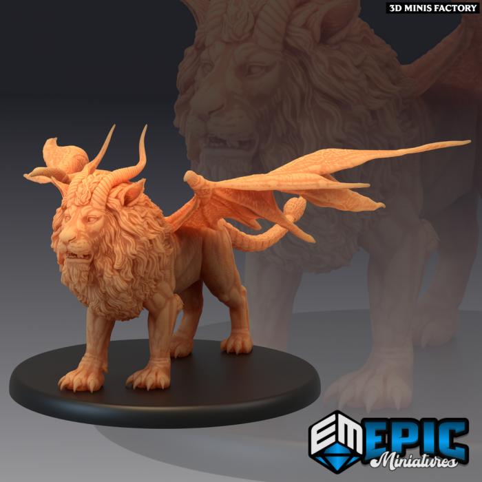 Manticore des Mythical Desert créé par Ghamak de 3D Minis Factory