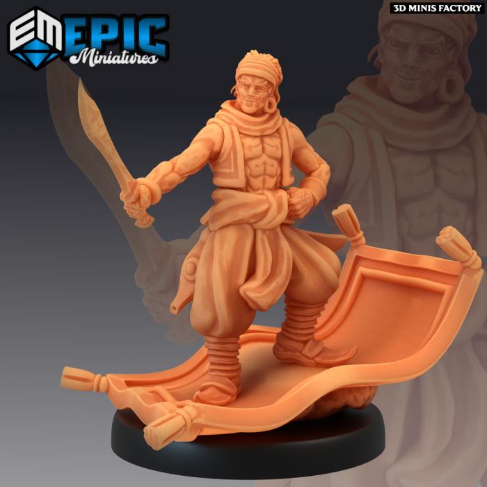 Aladdin des Mythical Desert créé par Epic Miniatures de 3D Minis Factory