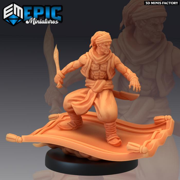 Aladdin Flying des Mythical Desert créé par Epic Miniatures de 3D Minis Factory
