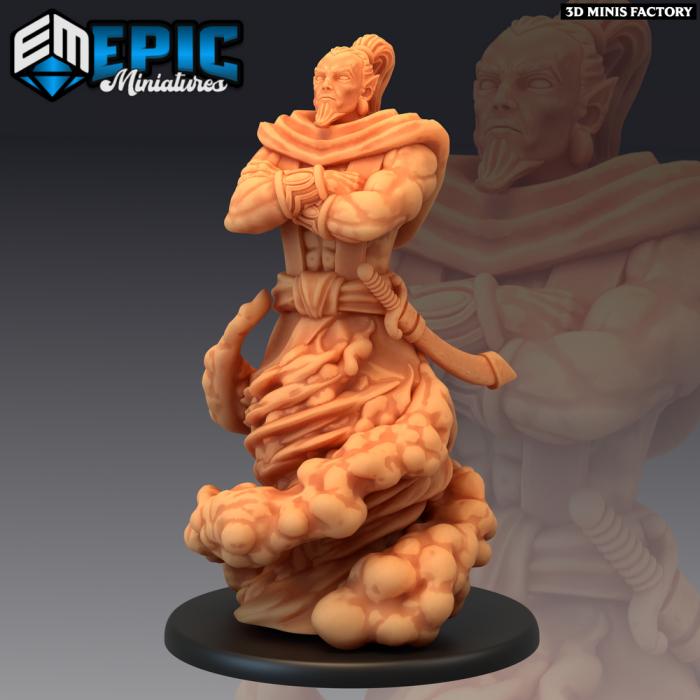 Djinni des Mythical Desert créé par Epic Miniatures de 3D Minis Factory