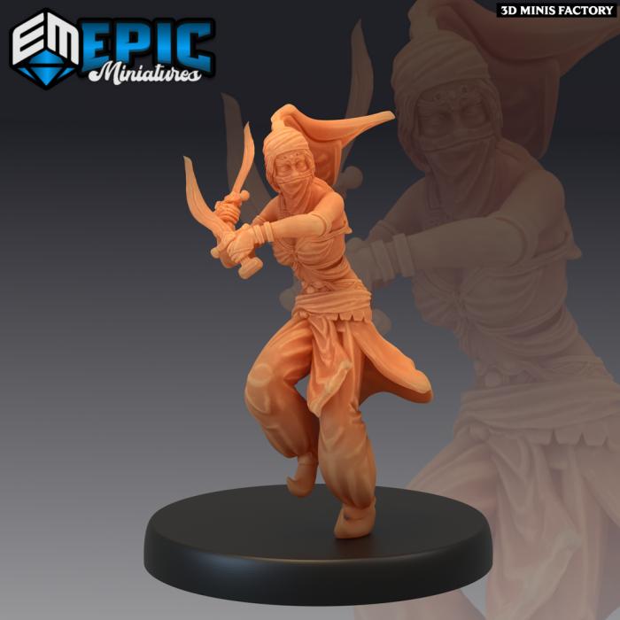 Orient Princess Dagger des Mythical Desert créé par Epic Miniatures de 3D Minis Factory