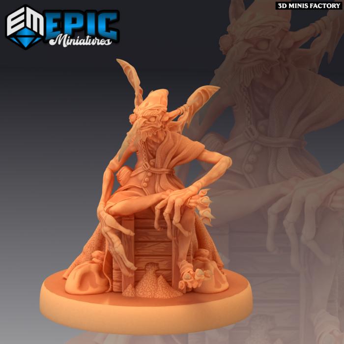 Dust Mephit Merchant des Mythical Desert créé par Epic Miniatures de 3D Minis Factory