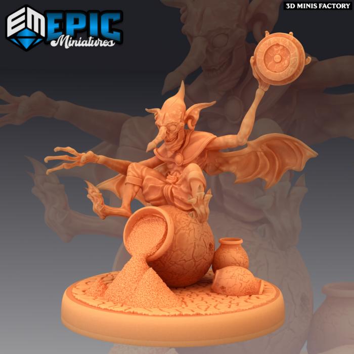 Dust Mephit Lazy Worker des Mythical Desert créé par Epic Miniatures de 3D Minis Factory