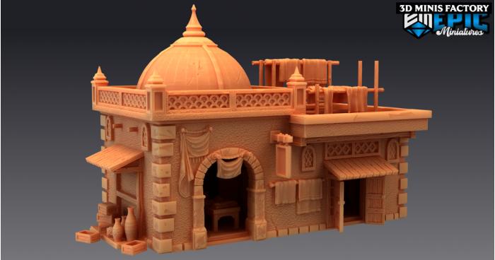 Merchant Shop des Mythical Desert créé par Epic Miniatures de 3D Minis Factory