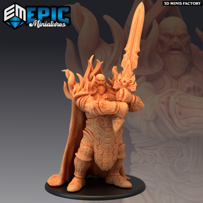 Fire Giant Sword des Inferno Island créé par Epic Miniatures de 3D Minis Factory