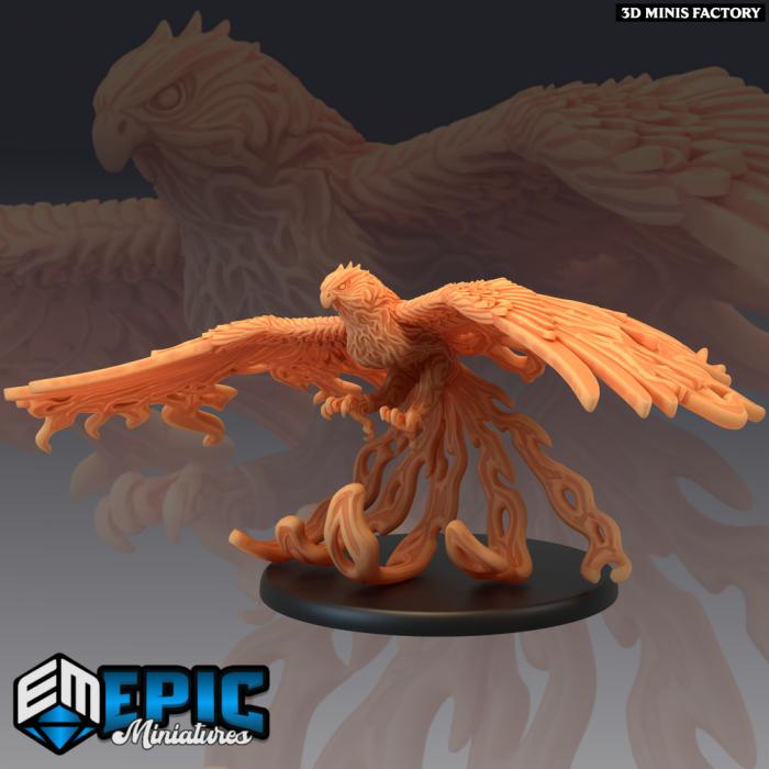 Phoenix - Vermilion Bird of the South des Inferno Island créé par Epic Miniatures de 3D Minis Factory