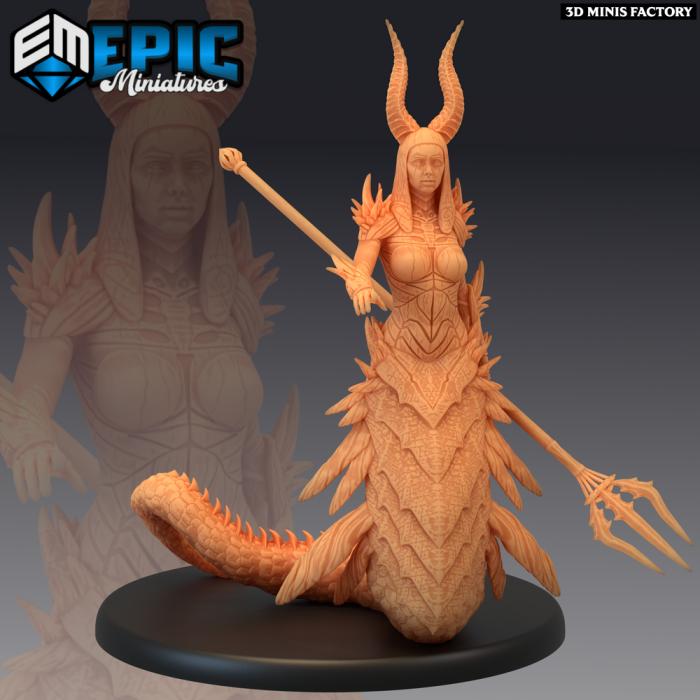 Volcanic Salamander des Inferno Island créé par Epic Miniatures de 3D Minis Factory
