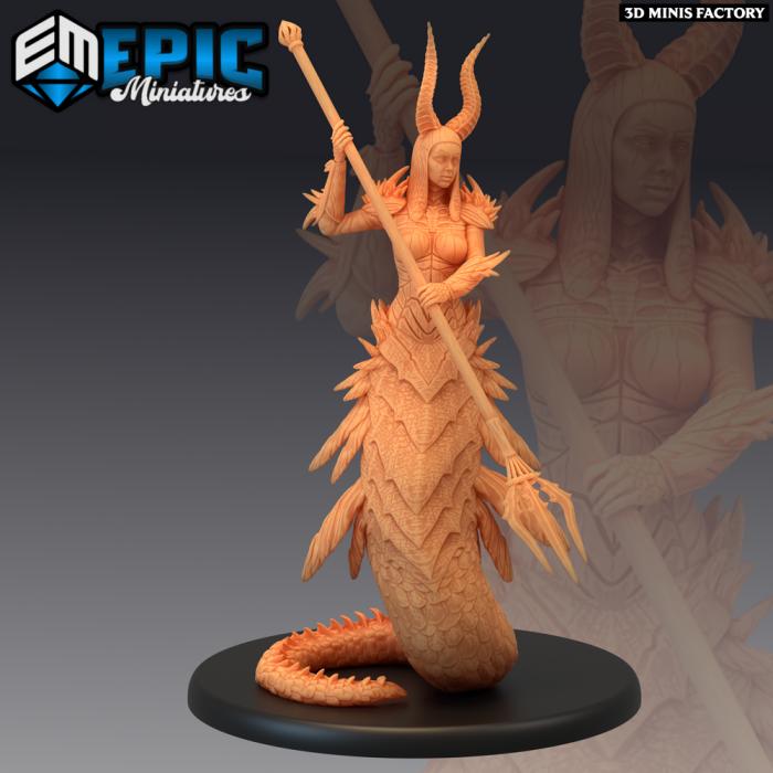 Volcanic Salamander Attacking des Inferno Island créé par Epic Miniatures de 3D Minis Factory