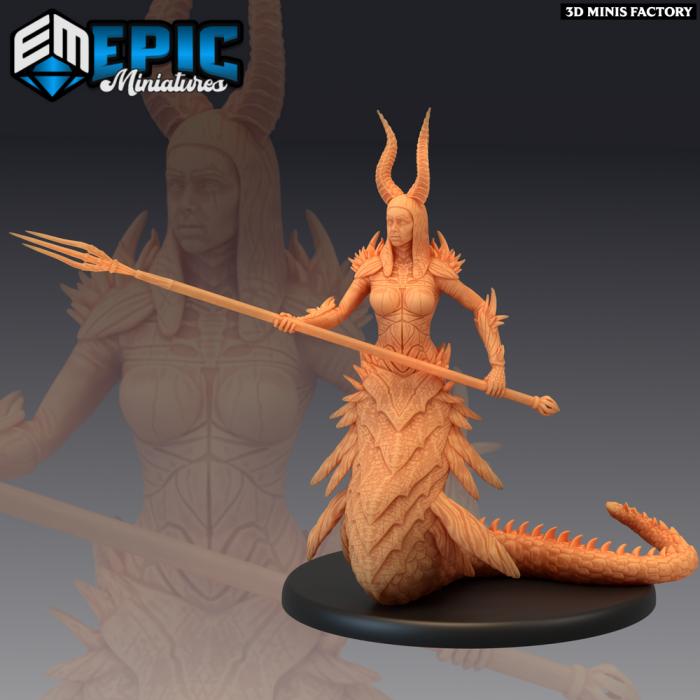 Volcanic Salamander Guarding des Inferno Island créé par Epic Miniatures de 3D Minis Factory