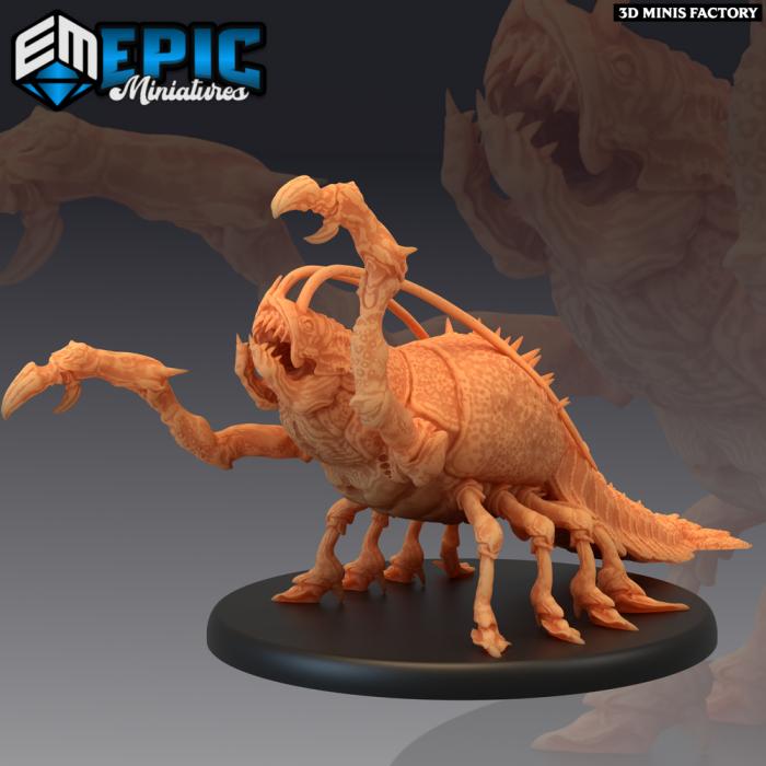 Giant Thermal Shrimp Attacking des Inferno Island créé par Epic Miniatures de 3D Minis Factory
