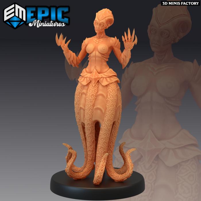 Octomaid Claws des Inferno Island créé par Epic Miniatures de 3D Minis Factory