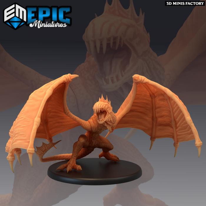 Island Wyvern des Inferno Island créé par Epic Miniatures de 3D Minis Factory