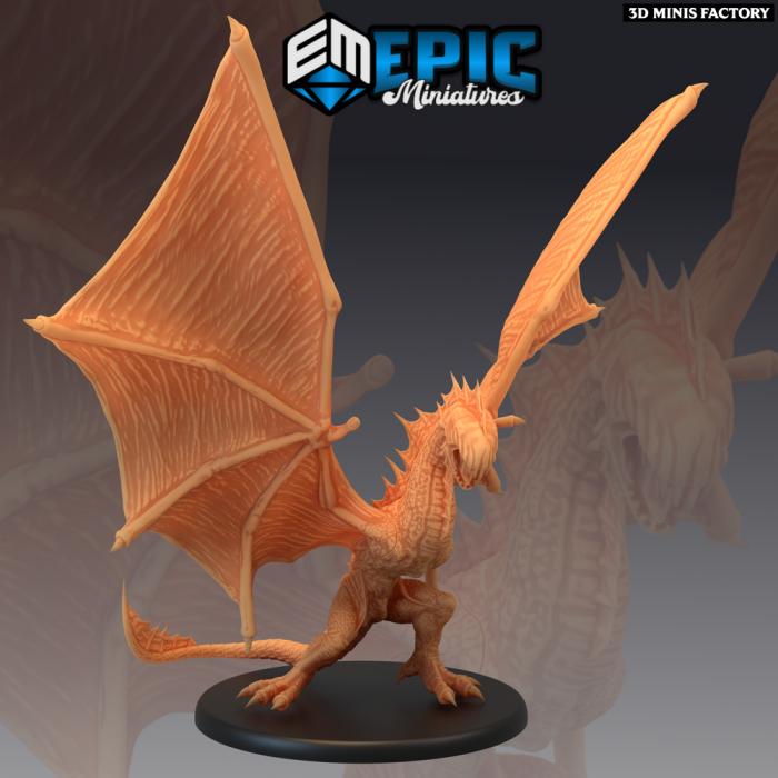 Island Wyvern Intimidating des Inferno Island créé par Epic Miniatures de 3D Minis Factory