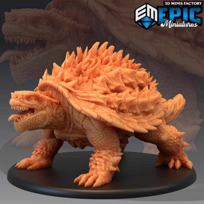 Black Tortoise of the North des Inferno Island créé par Epic Miniatures de 3D Minis Factory