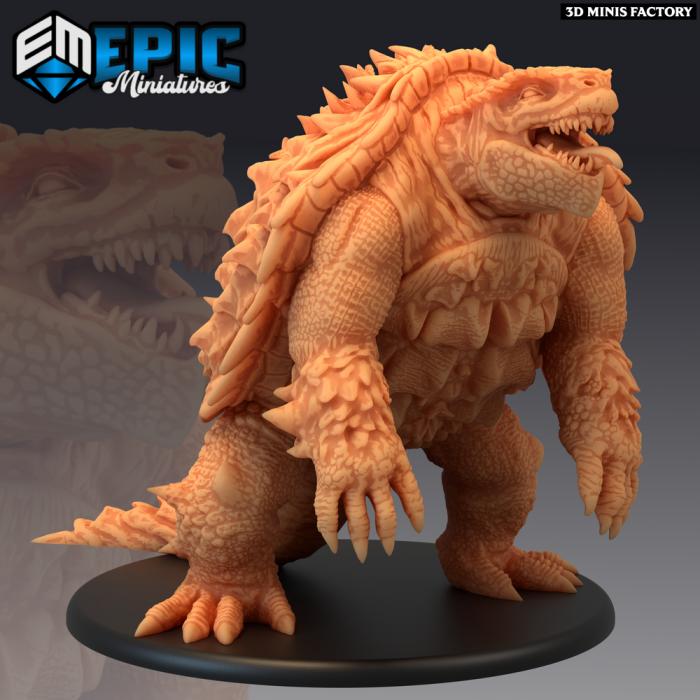 Turtle Kaiju des Inferno Island créé par Epic Miniatures de 3D Minis Factory
