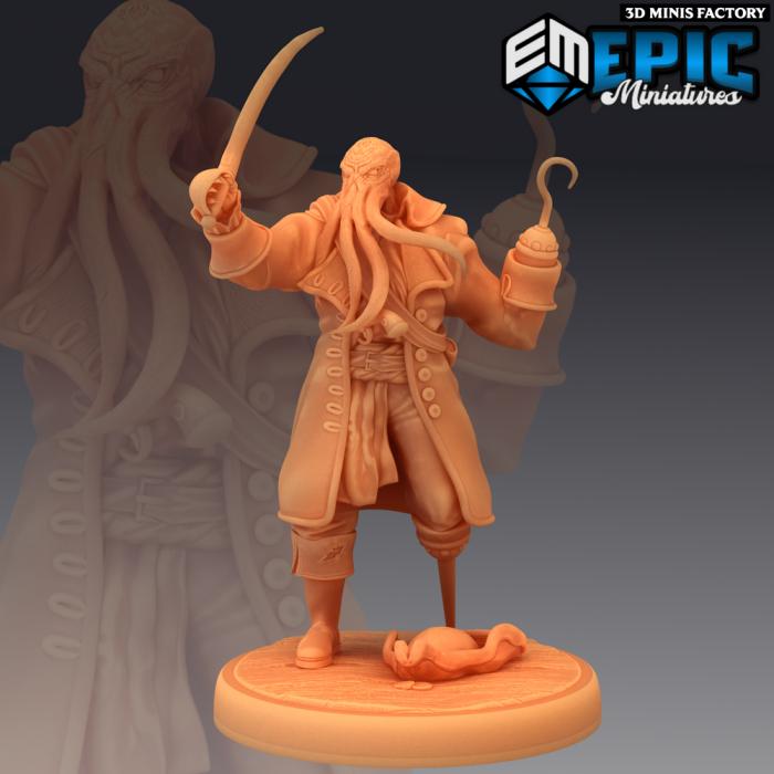 Captain Ahathid Sea Veteran des Inferno Island créé par Epic Miniatures de 3D Minis Factory