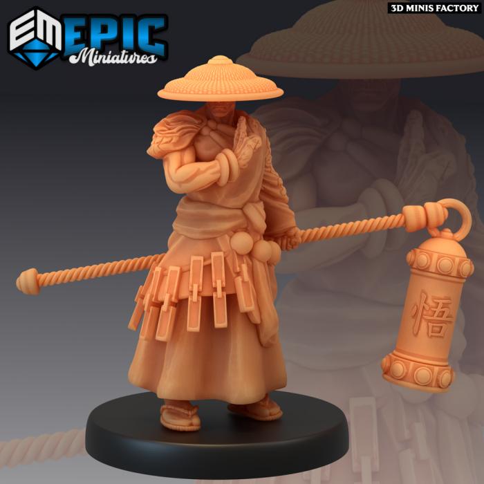 Tripitaka - 2 Variations des Divine Dynasty créé par Epic Miniatures de 3D Minis Factory