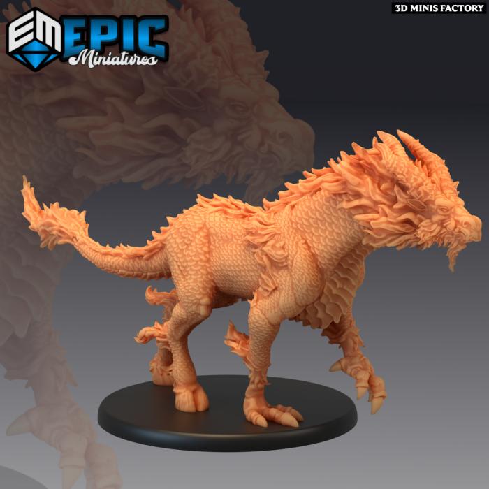 Qilin - White Dragon Horse des Divine Dynasty créé par Epic Miniatures de 3D Minis Factory