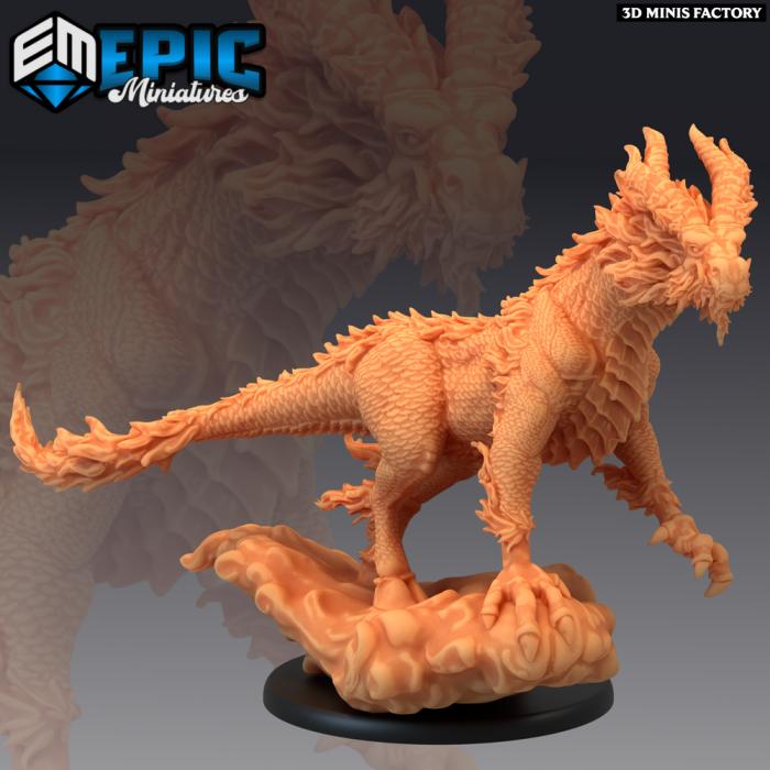 Qilin - White Dragon Horse Flying des Divine Dynasty créé par Epic Miniatures de 3D Minis Factory