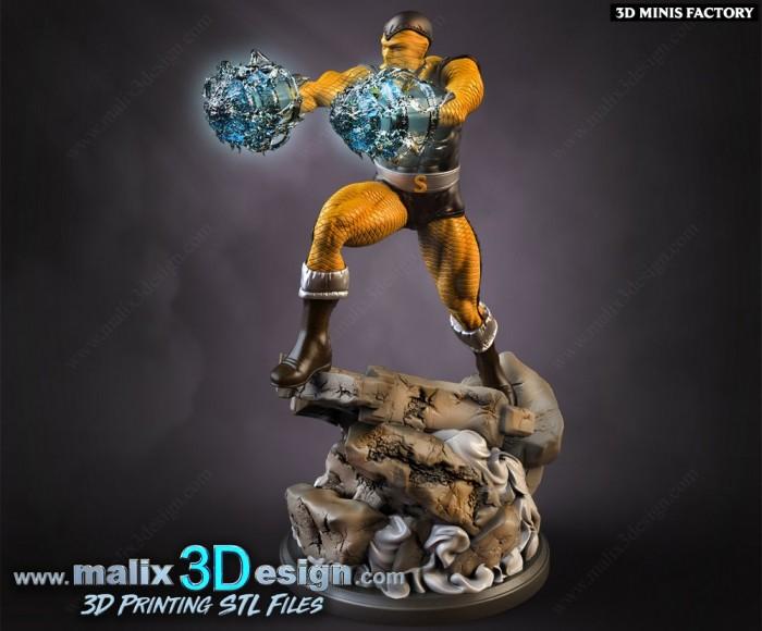 Shocker des Marvel créé par Malix3Design de 3D Minis Factory