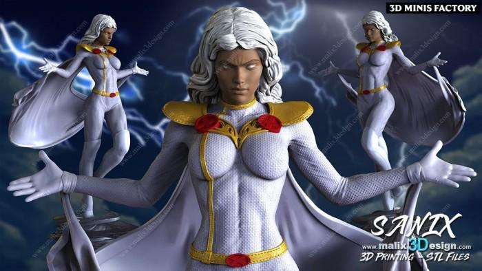 Storm (2) des Marvel créé par Malix3Design de 3D Minis Factory