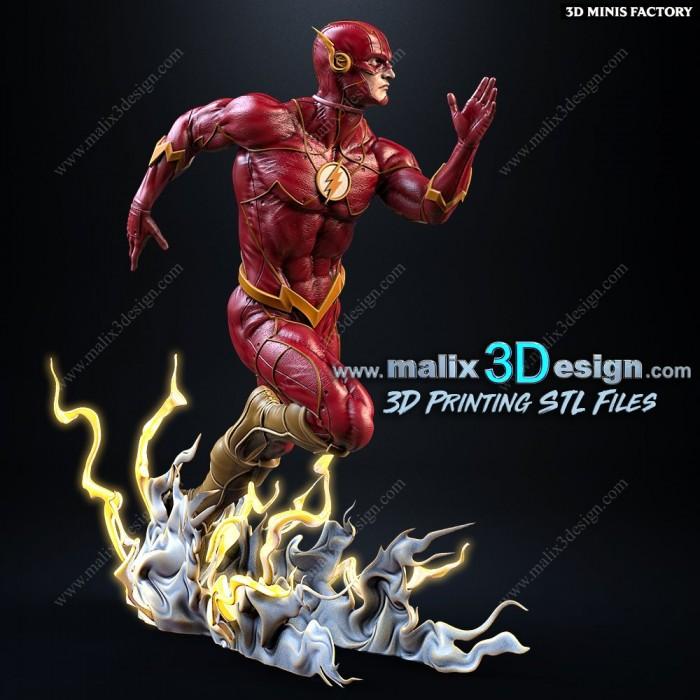 The Flash des DC Comics créé par Malix3Design de 3D Minis Factory
