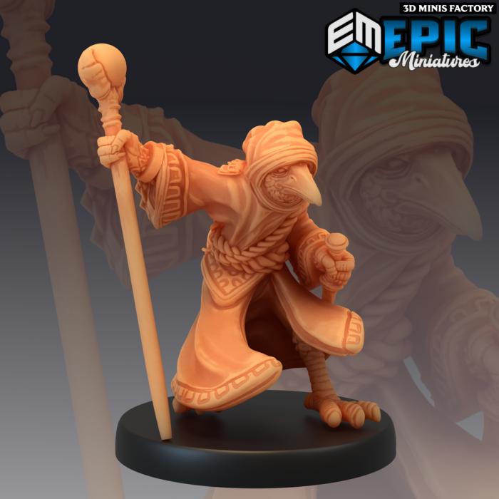 Kenku Wizard des Divine Dynasty créé par Epic Miniatures de 3D Minis Factory