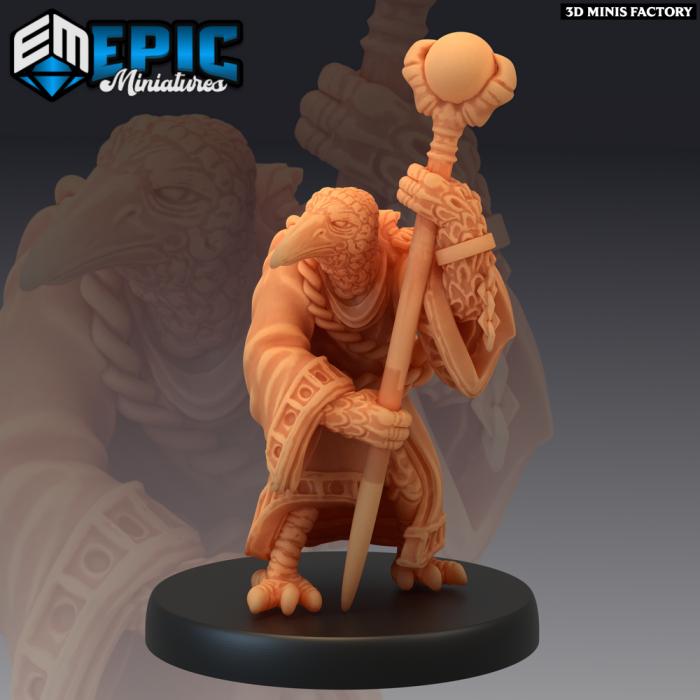 Kenku Wizard Old des Divine Dynasty créé par Epic Miniatures de 3D Minis Factory