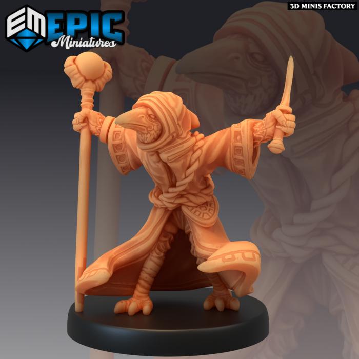 Kenku Wizard Blast Attack des Divine Dynasty créé par Epic Miniatures de 3D Minis Factory