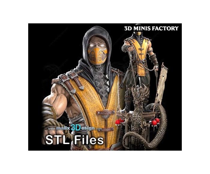 Scorpion (Mortel Combat) des TV-Movie créé par Malix3Design de 3D Minis Factory