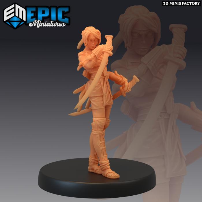 Kunoichi des Divine Dynasty créé par Epic Miniatures de 3D Minis Factory