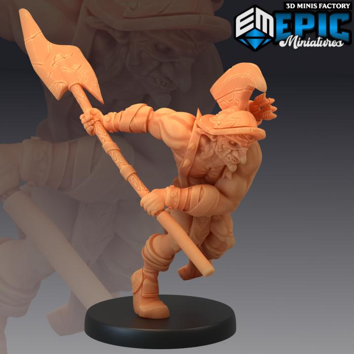 Hobgoblin Gladiator Halberd des Legendary Tournament créé par Epic Miniatures de 3D Minis Factory