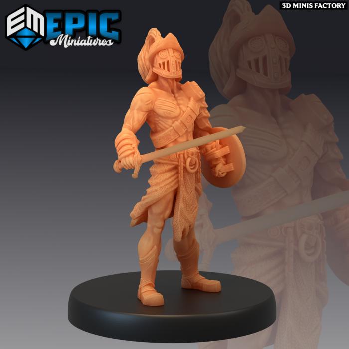 Gladiator Male Sword des Legendary Tournament créé par Epic Miniatures de 3D Minis Factory