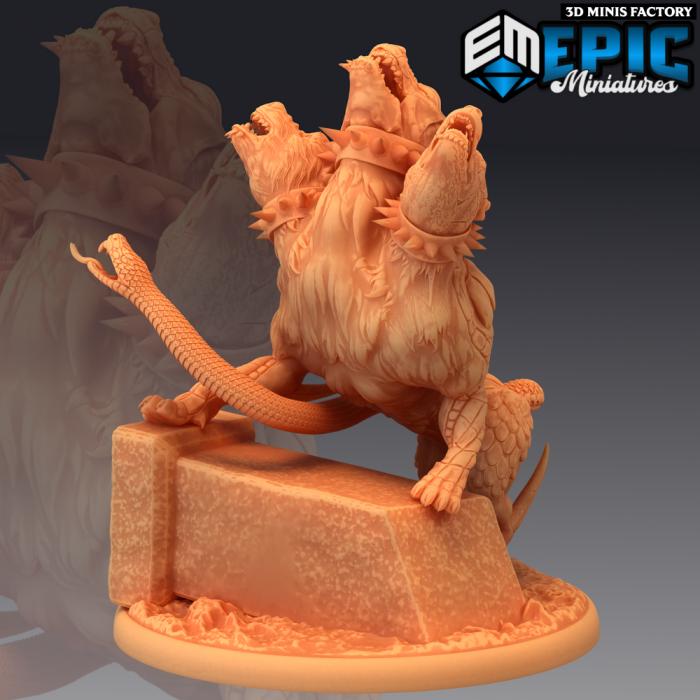 Cerberus Howling des Legendary Tournament créé par Epic Miniatures de 3D Minis Factory